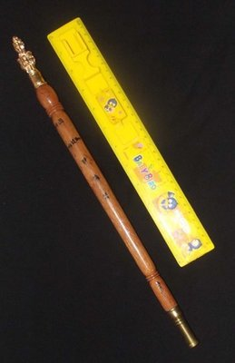 Kata Sri Maha Prohm (Brahma Wand) - Nuea Mai Saksit - Magic Wand made from Holy Wood - Luang Por Prohm (Khao Or Master) 14 Inches Long - Wat Ban Suan 2555 BE