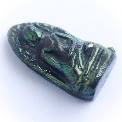 Pra Rod Lampun (Benjapakee amulet) - Nuea Lek Lai Nam Neung See Peek Malaeng Tap (Buddha in Meditation) pure Lek Lai - Luang Por Huan - Wat Putai Sawan 2548 BE