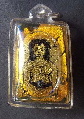 Chin Aathan Mae Nang Fa Kanad Yai 'Ongk Kroo' (Large size, bone carving number 16) Chae Nam Man Prai Fang Paetch Tae (Real Diamond) Hlang Takrut Hua Jai Mae Nang Prai - Pra Ajarn Taep Pongsawadarn