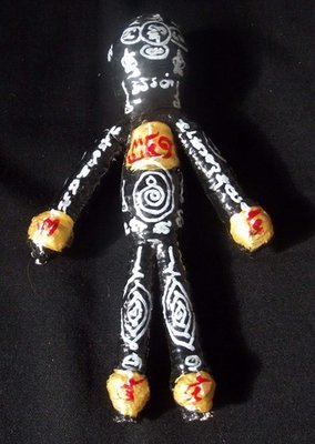 Hun Payont Baeb Boran (Ai Geng Gang) - Large Size 6.5 Inches high Multi-Purpose Ghost Soldier for Gambling and protection against thieves, danger, black magic - Luang Phu Bpun Tammabalo