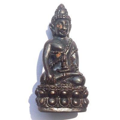 Pra Kring Bpiyasilo Medicine Buddha Amulet 84th Birthday Edition 2552 BE - Nuea Nava Loha - Luang Phu Juea Wat Klang Bang Gaew