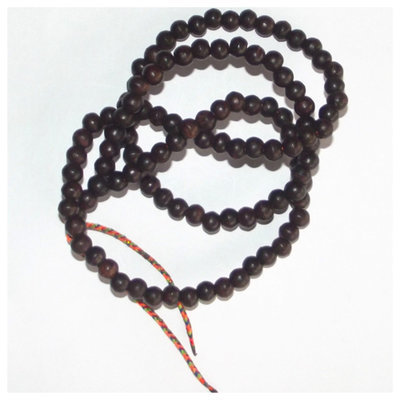 Prakam Suad Montr Bhavana Kata - High Quality Buddhist Prayer Bead Rosary for Chanting and Meditation (Small Beads) - made from Holy Wood - 108 Beads