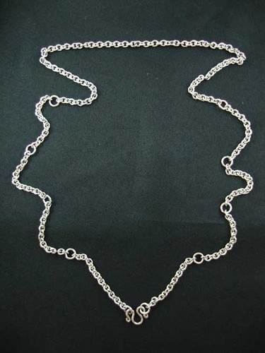 Stainless Steel Neck Chain for Amulets - Medium Double Gauge for Ladies or Men - from 1 to 9 amulets attachable 32 Inches long