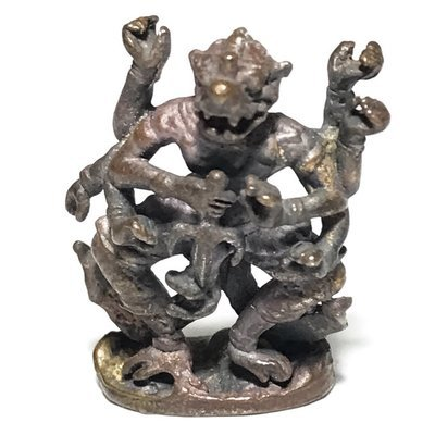 Hanuman 8 Gorn Eight Arms Monkey God 2550 BE 1st Edition 9 Sacred Metals - Luang Por Lae Wat Pra Song