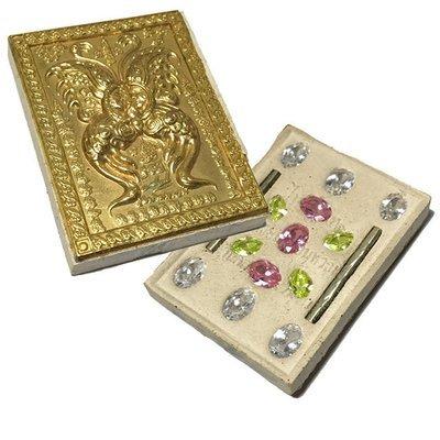 Taep Jamlaeng Pim Yai Ongk Kroo Block C Brass Mask Sacred Powders 11 Gems 2 Takrut Wai Kroo 2555 BE Kroo Ba Krissana Only 55 Made