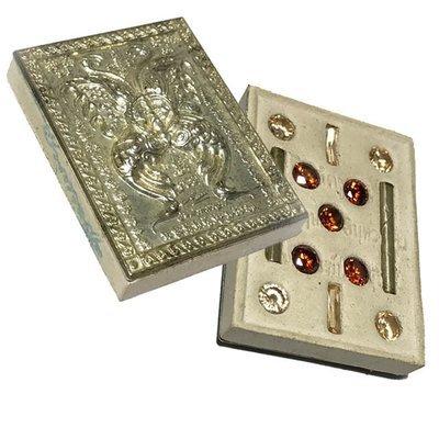 Taep Jamlaeng Pim Yai Ongk Kroo Block C Silver Mask Sacred Powders 11 Gems 2 Takrut Wai Kroo 2555 BE Kroo Ba Krissana Only 55 Made
