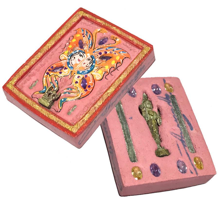 Taep Jamlaeng Pim Yai A2 Asrom Sathan 2555 BE Pink Powders 4 Takrut 13 Gems 2 Deities Kroo Ba Krissana Only 59 Made