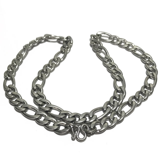 Stainless Steel Neck Chain for Amulets - Jumbo Gauge flat link 25 Inches long