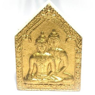 Pra Khun Phaen Sorn Phaen 'Run Koo Baramee'  (Gammagarn 'Mi') - Nuea Pong Prai Kumarn Gold Leaf + Silver Takrut + Monk Hair - Luang Por Sakorn - Wat Nong Grub 2548 BE
