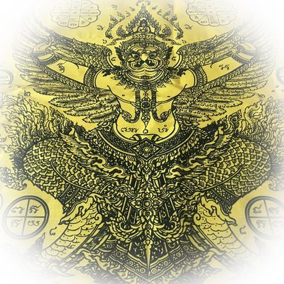 Pha Yant Paya Krut Paya Suban Bandan Sap Yellow 40 x 25 Inches LP Glom Wat Koke U-Tong
