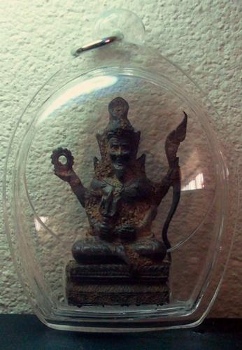 Por Phu Ruesi Narai 4 Gorn Nuea Te Din Thai - with waterproof casing - Lp Daeng Wat Huay Chalong - Uttaradit