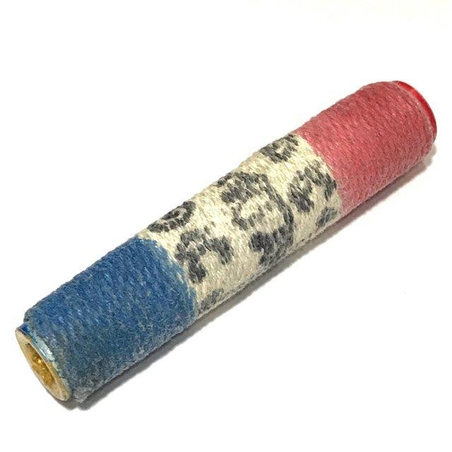 Takrut Tone Thak Chueak Tong Chart Yantra Scroll Spell Tricolored Cord Wrap Hand Inscriptions Luang Phu Khui
