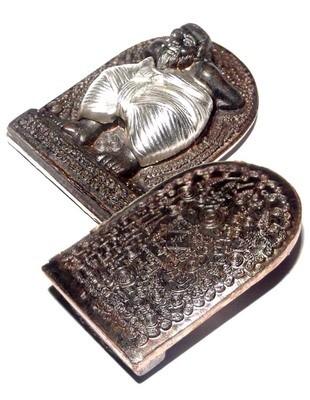 Hun Payont Dta Ba Khaw - Nuea Nava Loha Hnaa Ngern (9 Sacred Metals + Silver Pants) - 'Hmeun Yant' Edition (1000 Yantra) 2555 BE - Por Tan Kloi - Only 84 Made
