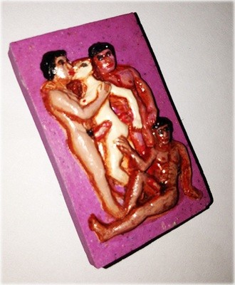 Nang Hmao Pong Ya Sang Sanaeh Kama Sutra Tantric amulet (Purple for Lesbian, Bi/Transexuals) - Por Yai Porn (Khmer)