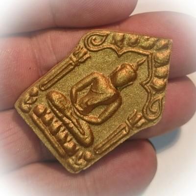 Khun Phaen Prai Kumarn Jindamanee Ongk Kroo Pim C - Nuea  Wan Dork Tong  2 Bronze Takrut Sariga - Luang Por Sakorn 2555 BE