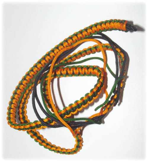 Chuak Takrut Kart Aew - Hand Plaited Cord Belt for attaching Takrut, Palad Khik and other Occult Charms - Yellow-Green Color