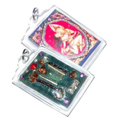 Taewada Long Hong (Paetch Payatorn) Ongk Kroo - Bantian Mian Jia 2556 BE edition - 9 Gems 4 Takrut 2 Pearls + Prai Oil flask - Luang Phu In