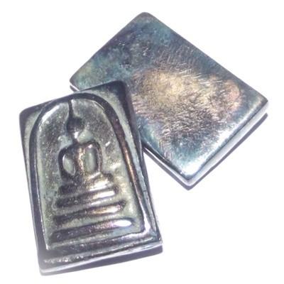 Pra Somdej Benjapakee amulet - Lek Lai Nam Neung See Peek Malaeng Tap (Buddha subduing Mara made from Pure Lek Lai) - Luang Por Huan