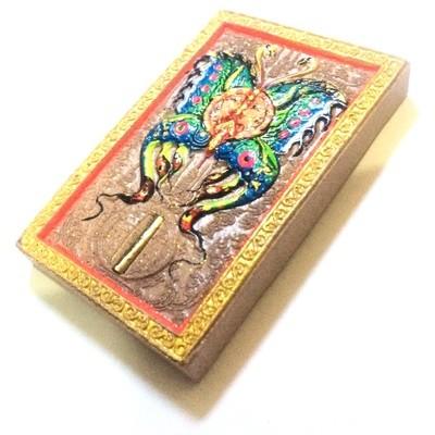 Taep Fa Din Hlang Rian Narai Pim Yai (Butterfly King with Vishnu Yantra Coin) - Kroo Ba Krissana - Kammathana 56 Edition