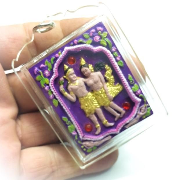 Taewada Hlong Hong (Paetch Payatorn Kinaree) Ongk Kroo - hand painted 20 gems 2 pearls, look namo, 7 Takrut + Butterfly Deva - Nia Kajia Edition 2554 BE Free Casing - Luang Phu In
