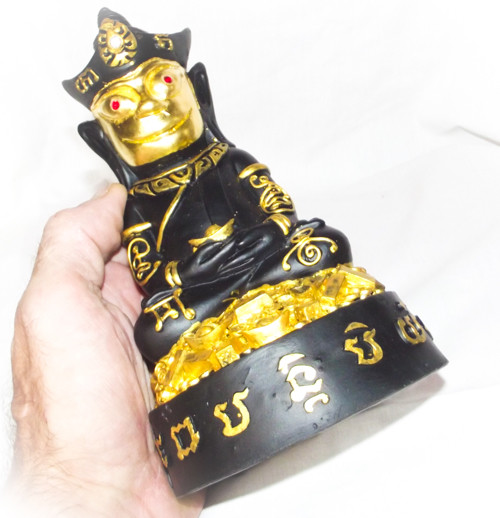 Paya Ngang Maha Pokasap Maha Sanaeh Bucha Statue - 4 x 7 Inches - Sacred Amulets in Base - Montr Paetch Payatorn Jantr Sorn Jantr Edition - Luang Phu In 2556 BE