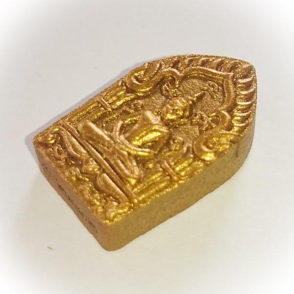 Pra Khun Phaen Pong Prai Kumarn (Pim Lek) Prai Tong Edition 2556 BE Nuea Wan Sabu Luead (Pink Powders) Gemstone Fragments + Takrut Tong Daeng - Luang Por Sakorn