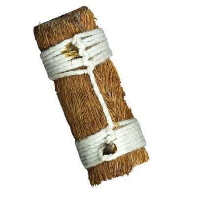 Takrut Ma Glom Nang (Ma Saep Nang) 'Dork Lek' Sorng Bo - 'Sang Hor Chan' edition 2555 BE - Horse Skin Wrapped Leaden Yantra with 2 Cord Spell Knots for Enchantment - Kroo Ba Lerd  Wat Tung Man Dtai