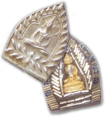 Pra Jao Sua Sethee Yai Jumbo Ongk Kroo Nam Rerk - Solid Silver - 108 Takrut Pra Radtanatrai, 1 Takrut Hua Jai Sethee & Navagote Buddha - Luang Por Jerd  Jao Sua Sethee Yai Edition 2556 BE only 99 made