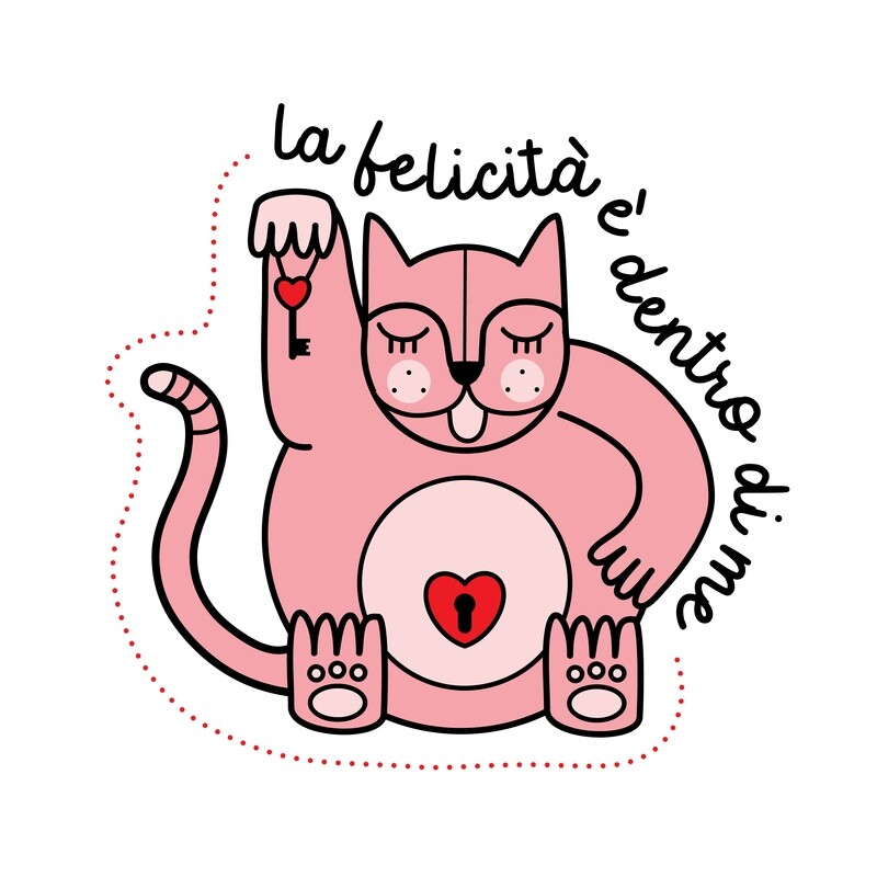 Gattino Rosa BIMBA- La felicità è dentro di me