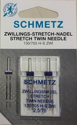Schmetz tweelingnaalden stretch 2,5/75