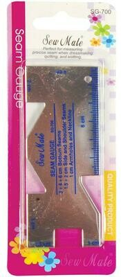 Zoommeter aluminium SewMate
