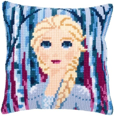 Kruissteek kussen Disney Elsa II