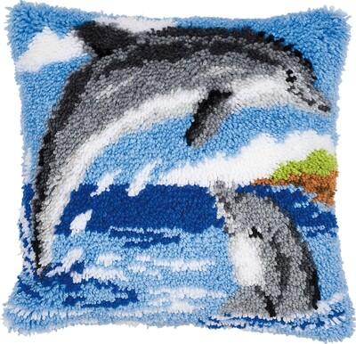 Knoopkussen 2 dolfijnen