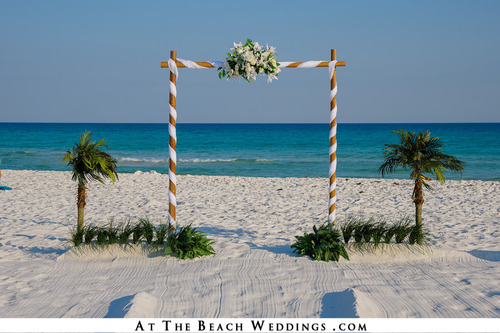White Threshold of Love - Bamboo Beach Wedding Package 00030