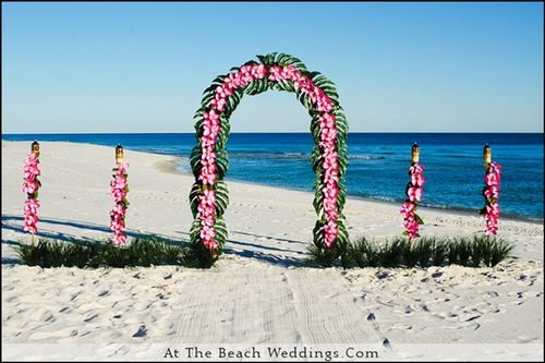 Pink Love Flowers - Beach wedding Package 00019