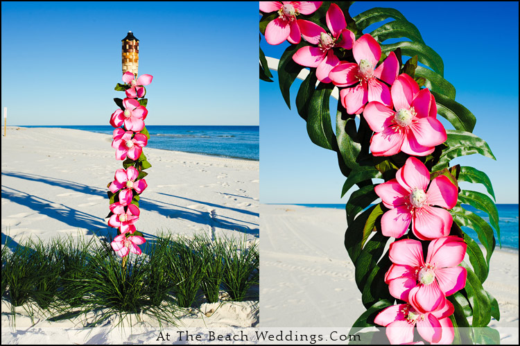 Pink Love Flowers - Beach wedding Package