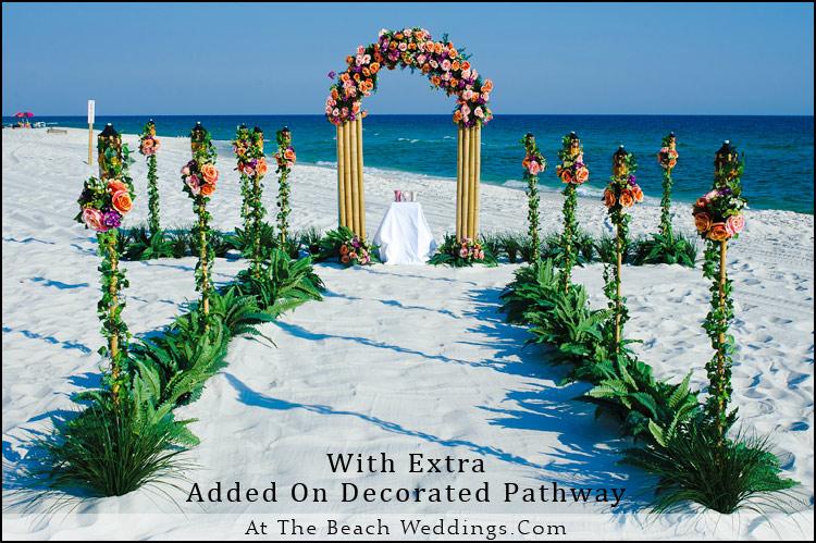 Bamboo Orange Sunset - Beach wedding Package
