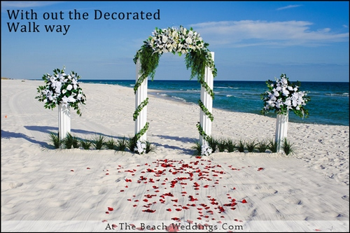 Pillars Of Love - Beach wedding Package 00023