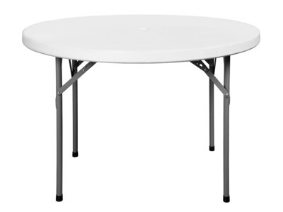 C 110 White - Round table 110 cm