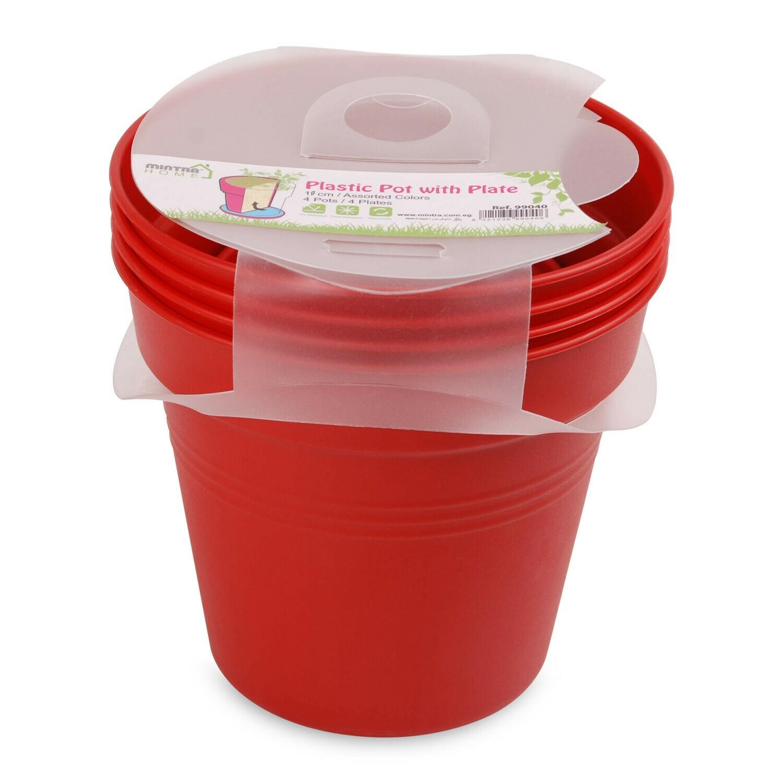 Round Pot 21 cm (Pack of 4)