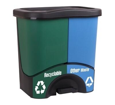 Dual recycling bin