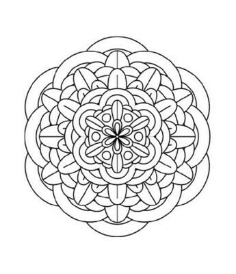 FREE Mandala download and print coloring page