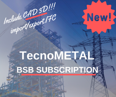 TecnoMETAL BSB SUBSCRIPTION 1 year