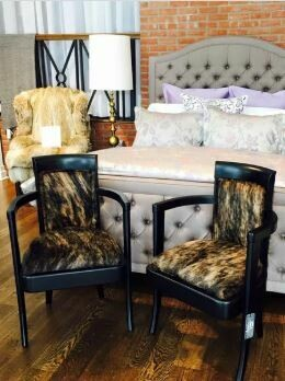Cowhide Cocktail Chairs (pair)