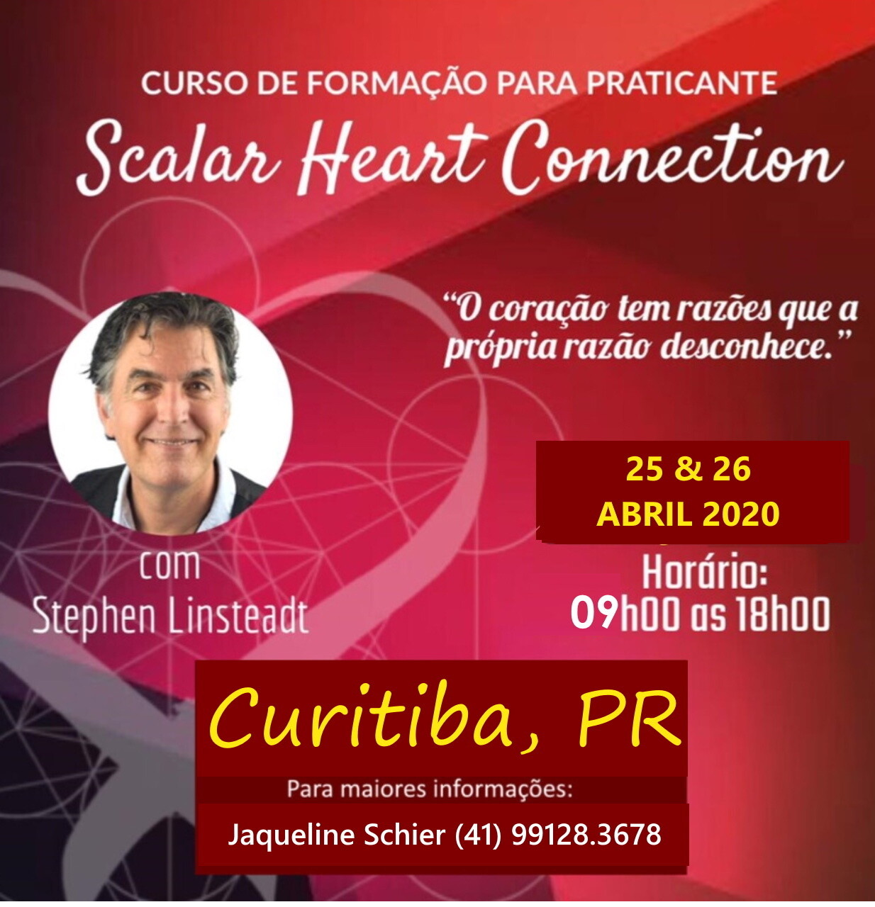 Curso de Formação de Praticante de Scalar Heart Connection - 25 & 26 de ABRIL de 2020 Curitiba, PR