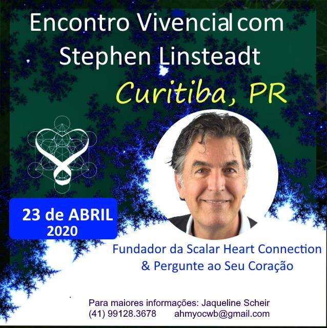 Encontro Vivencial com Stephen Linsteadt - 23 de Abril de  2020 de 19:00 - 22:30 hrs - CURITIBA, PR