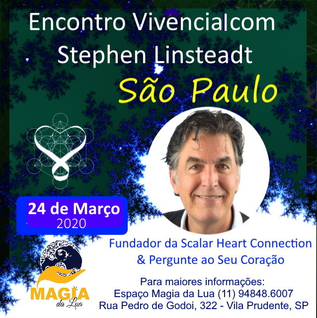 Encontro Vivencial com Stephen Linsteadt - 24 de Março de 2020 de 19:00 - 22:30 hrs - SAO PAULO, SP