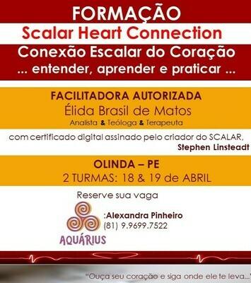 Curso de Formação Praticante de Scalar Heart Connection -  2 Turmas: 18 & 19 de ABRIL de 2020 Olinda, PE