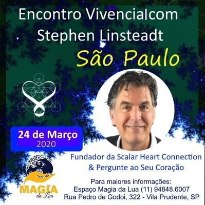 Encontro Vivencial com Stephen Linsteadt -  2020 de 19:00 - 22:30 hrs - SAO PAULO, SP Evento adiado para nova data durante o segundo semestre de 2020.