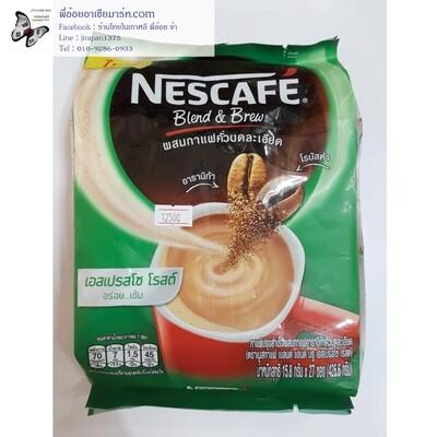กาแฟปรุงสำเร็จผสมกาแฟคั่วบดละเอียด อาราบิก้าและโรบัสต้า เอสเปรสโซ โรสต์ ตราเนสกาแฟ เบลนด์ แอนด์ บรู